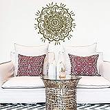 Neue handgemalte Mandala Wandaufkleber Meditation Dekoration Mandala Aufkleber große Wanddekoration Wohnzimmer Yoga Raum A4 57x57cm