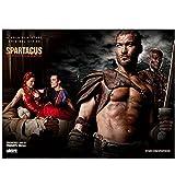 Zplbdw Film Spartacus: Blut und Sand 2010 Kunst Silk Poster Wandkunst Home Dekorative Malerei -60x90cmx1pcs- Kein Rahmen