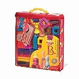 B Toys - Bristle Blocks Stackadoos - 68 Spielzeugblöcke in einer Aufbewahrungstasche - BPA Frei STEM Spielzeug Bausteine für Kinder ab 2 Jahren