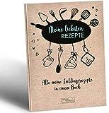 DESIGN WUNDER® Rezeptbuch zum Selberschreiben A4 aus 100% recyceltem Papier - Meine Lieblingsrezepte zum Selberschreiben & Ausfüllen gesammelt im eigenen Rezeptbuch - DIY Kochbuch selbst schreiben