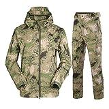 TH&Meoostny Mens Army Camouflage Jacken Fleece Thermal Outdoor Hunt Militär Taktische Anzug Kleidung Ruins Green 1 L