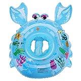 EKKONG Baby Schwimmring, Baby Schwimmen Ring, Baby Schwimmhilfe, Baby Schwimmhilfen mit Schwimmsitz PVC für Kleinkind 6 Monate bis 48 Monate (Blau
