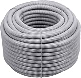 Meister Isolierrohr flexible Ausführung - 50 Meter - lichtgrau - 320 N (leicht) - M25 Gewinde - Flammwidrig - Geeignet für Unterputz & Hohlwände / Wellrohr / Leerrohr / Schutzrohr / 7480630