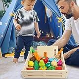 Magent Hölz Küchenspielzeug Schneiden Sie Obst Und Gemüse, Kochen Lebensmittel Simulation Lernspielzeug Rollenspiele Für Jungen Mädchen