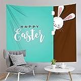 PPOU 3D Ostern Muster Wandteppich Home Decor Hintergrund Stoff Tapisserie Tapisserie Decke A4 150x200