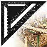 AFASOES 12 Zoll Dreieck Lineal Metrisch Anschlagwinkel Aluminiumlegierung Dreieck Präzision Speed Square Anschlagwinkeldreieck Anschlagwinkel Messwerkzeug Winkelmesser für Ingenieur Tischler 30cm