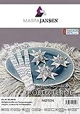 MarpaJansen Papierstreifen für Fröbelsterne - (2 x 60 cm, 60 Streifen, 115 g/m²) - Transparentpapier - Noten