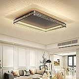 LED Wohnzimmerlampe Deckenleuchte 144W große Ultra-dünn moderne Deckenlampe Wohnzimmer Esszimmer Schlafzimmer vorzimmer lampe schwarz gold Korb Lampenschirm Design/Dimmbar Rechteckig 115CM