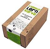 Liamba Lernkarte   500 Karteikarten in der praktischen Lernbox   DIN A8 Format   7,4 x 5,2 cm   190g   liniert   FSC   Karteikasten aus Recyclingkarton   in Deutschland hergestellt