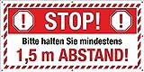 PVC Werbebanner Banner Plane Festival Bauzaunplane Stop Abstand halten