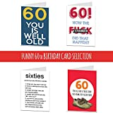 Diuangfoong 60 Geburtstagskarten zum 60. Geburtstag, für Männer, Frauen, Bruder, Schwester, Ehemann, Ehefrau, lustig, unverschämt