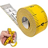 Schneidermaßband, universal Maßband mit 150 cm Gesamtlänge, 2 in 1 Maßband mit CM und INCH Skalierung, Ausmessung von Kleidung, Körper-Fett, Rollmaßband, Messband, Bandmaß, aus Glasfieber Kunststoff