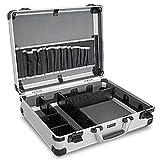 HEMMDAL Aluminiumkoffer, silber – mit verstellbaren Fächern, leer – sehr leichter Tragekoffer aus Alu – zeitloses Rillen-Design – vielseitiger Koffer für Freizeit & Hobby