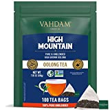 VAHDAM, Himalaya Oolong Teebeutel (100) - 100% natürlicher Entgiftungstee | Oolong Tee loses Blatt in Pyramidenteebeuteln | 100% reiner Oolong Tee | Leichtes Braü - Heiß, Eis/Kombucha Tee