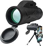 Monokular Teleskop, 80X100 HD Monokular Fernglas Telescope, Handy Fernrohr Objektiv Wasserdicht mit Stativ für Vogelbeobachtung, Wandern Sightseeing, Konzert Ballspiel, Camping, Reise