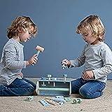 Little Dutch 4434 Kinder Holz Werkzeugkasten 20-teilig Mint blau