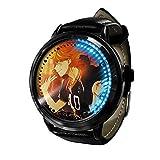 Armbanduhren Haikyuu Serie Binärer LED-Touchscreen Japanischer Quarz wasserdichte Digitale Lichtuhr Armbanduhr Unisex Cosplay Geschenk Armbanduhren A1