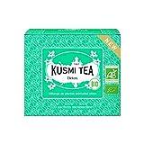 Kusmi Tea - Detox – Grüner Bio-Tee mit Zitronengras, Duft von Zitrone und Mischung von Yerba Mate – rein natürlicher Premium loser grüner Detox-Tee in 20 umweltfreundlichen Musselin-Teebeuteln