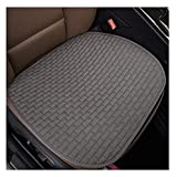 WEIWEIMITE Einzelne Autositzbezüge, Sommer-Flachs-Kühlkissen, Schwamm-Füllung Auto-Vordersitzkissen mit Rutschfester Unterkompatibel, universelle Autokrotektormatte (Color : Gray)