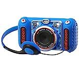 VTech - Kidizoom Duo DX Digitalkamera für Kinder, blau (3480-520022)