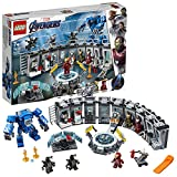 LEGO 76125 Super Heroes Marvel Avengers Iron Mans Werkstatt, Set mit 6 Minifiguren, Superhelden Spielzeug ab 7 Jahre