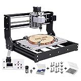 Upgrade CNC 3018 Pro Fräsmaschine Laser Graviermaschine,Vogvigo Holz Router Kit GRBL Steuerung DIY Mini CNC Maschine 3D Graviermaschine,3 Achsen Kunststoff Acryl PCB PVC Fräse mit Offline Controller