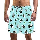 Herren Surf Beach Shorts Quick Dry Badehose mit Tasche Lustig Cool Panda Muster Gr. Verschiedene Größen, mehrfarbig