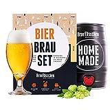 braufaesschen |Bierbrauset zum selber brauen | Pils im 5 Liter Fass | In 7 Tagen fertig Männer, Freund oder Vater