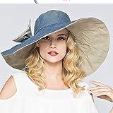 MAOZIJIE Mode Große Krempe Sonnenhüte Faltbare Womens Sunhats Krawatte Bogen Frauen Hut Sommer Strand Floppy Cap Headw