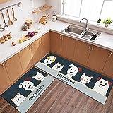 OPLJ Modische Küchen-Fußmatten, Lange Teppiche, Hauseingangs-Fußmatten, rutschfeste waschbare Teppich-Fußmatten A12 60x90cm