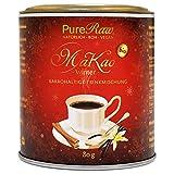 MaKao Winter Kakao Maca Lucuma Zimt Carob Superfood-Getränke-Pulver (Bio Rohkost Vegan) Trinkschokolade ohne Zucker, Heiße Schokolade zu Weihnachten - Cacao Drink Mix Powder | PureRaw 80g