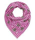 SIX Halstuch: Tuch mit Vichy-Karo, 100% Baumwolle, passend zum Trachten-Outfit, Damenschal, Oktoberfest, Kostüm, Karneval, Fasching (426-337)