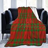 Allures Gallant Clan Livingstone Tartan Plaid Überwurfdecke, Sherpa Decke, gemütliche Bettdecke für Familienfeste, Geschenk, Fleecedecke, warme Sofadecke, 127 x 101,6 cm