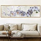 Diamond Painting Full Drill Set, weiße Orchideenblüte,Square Vollbohrer Kristall ,Große Stickerei Set ,Kreuzstich Bilder ,für Home Wall Decoration(50x150cm,20x60in) H2776