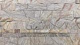 Naturstein 3D Paneele Steinfurnier selbstklebend Klinker Riemchen Wandsteinverkleidung (Stein, 0,9 M2)