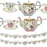 Talking Tables Truly Alice Wimpelkette zum Aufhängen, Teekanne, 4 m, Mehrfarbig 2-Pack Mehrfarbig
