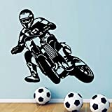 Motorrad Motor Race Wanddekoration Motocross Fahrrad Sport Jungen Wandtattoo Für Teenager Jungen Schlafzimmer Aufkleber DIY Art A4 63x57