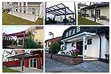 Terassenüberdachung | Bausatz inkl. opale Hohlkammerplatten | integriertes Dachrinnen-System | pulverbeschichtetes Aluminium | Farb- und Größenauswahl | Wandmontage | 400x300cm (BxT) |