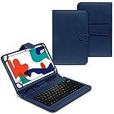 UC-Express Tasche kompatibel für Huawei MatePad T10 / T10s Hülle Keyboard Case Tastatur QWERTZ Standfunktion USB, Farben:Blau