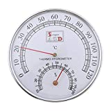 GUMEI Sauna Thermometer Metallgehäuse Dampf Sauna Raumthermometer Hygrometer Bad und Sauna Indoor Outdoor Geb