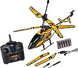 Carson 500507139 Easy Tyrann Hornet 350 2.4GHz RTF, Ferngesteuerter Hubschrauber, Modell, RC Helikopter, inkl. Batterien und Fernsteuerung, 100% flugfertig, gelb