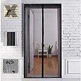 Pulchram Magnetische Fliegengitter-Tür, Insektenschutz, 100 x 200 cm, Magnetvorhang ideal für Balkontür, Wohnzimmer, Kellertür, Terrassentür, einfache selbstklebende Montage ohne Bohren