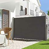 YHX Seitenmarkise, Sichtschutz Sonnenschutz Windschutz Markise 160 * 300cm, Anti-Uv Ausziehbare Markise, FüR Balkon, Terrasse Und Garten