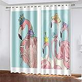 YUNSW 3D-Digitaldruck Polyester-Vorhänge, Geeignet Für Wohnzimmer, Schlafzimmer Und Küche, Beschattung Und Geräuschreduzierung, Mit Löchern, Vogelvorhänge (Total Width) 280x(Height) 290cm