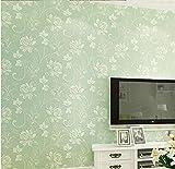hellgrün Tapete Großes Blumenmuster Vliestapete 9.5 m x 0,53 m Eleganz-Tapete für das Wohnzimmer im Wohnzimmer, den Innen- und den TV-Hintergrund 9.5x0.53m