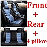 Sitzbezüge Auto Set Autositzbezüge für Jaguar Xe Xf Xj E-Pace F-Pace I-Pace Xel Xfl Autozubehör-Diamantblau Luxus