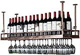 Feeyond Weinregal Im Modernen Stil Eisen Hängen Weinglasregal Deckendekorationsregal Für Bar, Restaurant, Küche Oder Weinkeller Lagerung,100