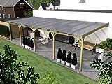 Terrassenüberdachung BORKUM X 800x400cm Wintergarten Überdachung
