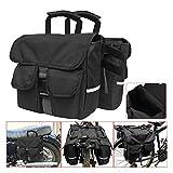 QXDZSWB schwarzer Motorrad-Rucksack für den Rücksitz, abnehmbar, verstellbar, abnehmbare Tasche, Motorradzubehör (Farbe: schwarz)