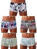 Arjen Kroos Herren Boxershorts Unterwäsche für Männer Men Sexy Boxer Shorts Briefs mit Muster Trunk Retroshorts Retropants Unterhosen Hipster, Mehrfarbig (5er Pack), XL(86-95cm)